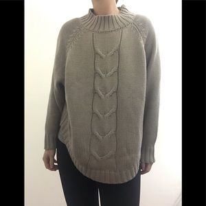 Nanette Lenore oversized taupe knit sweater